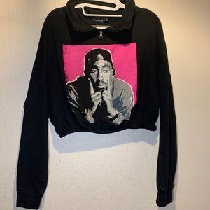 Cropped sweatshirt  (Tupac)